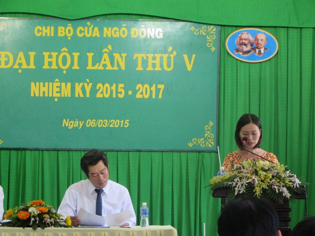 Đảng bộ Công ty TNHH MTV Công viên Cây xanh TP.HCM tổ chức Đại hội chi bộ điểm nhiệm kỳ 2015-2017