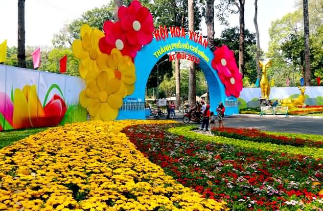 Khai mạc Hội Hoa Xuân Ất Mùi 2015