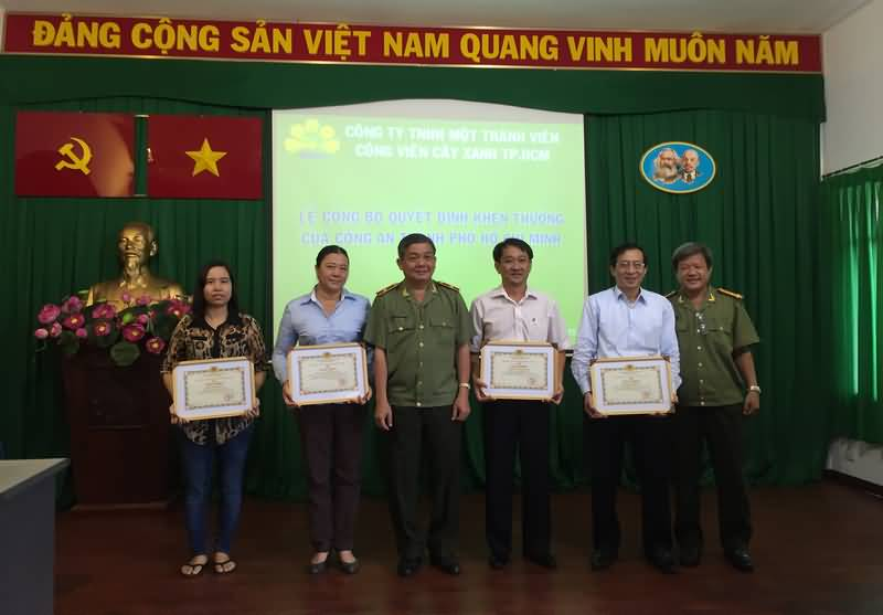 Công an TP.HCM khen thưởng Công ty hoàn thành xuất sắc dự án