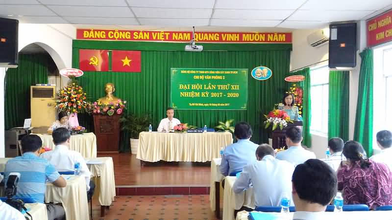 ĐẠI HỘI CHI BỘ VĂN PHÒNG 2 LẦN THỨ XII, NHIỆM KỲ 2017 - 2020