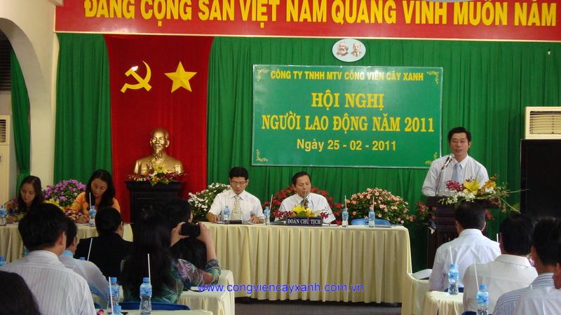 Hội Nghị Người Lao Động Cty TNHH MTV Công viên Cây xanh năm 2011