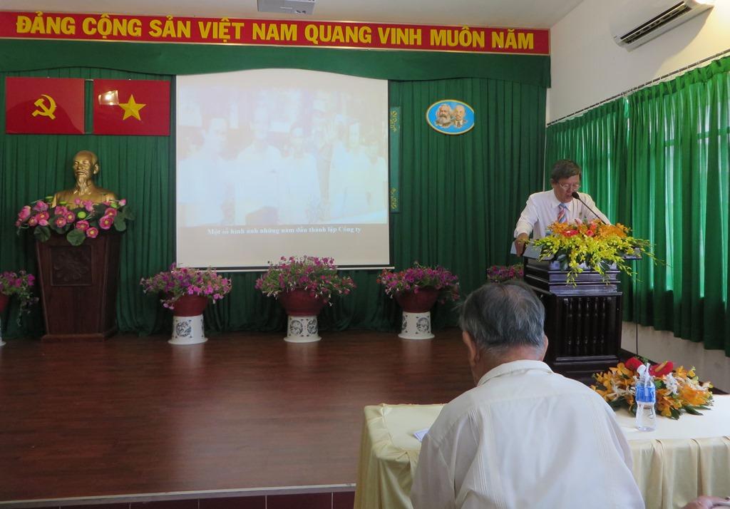 Ông Trương Đăng Hùng, Chủ tịch HĐTV Công ty phát biểu tại buổi lễ
